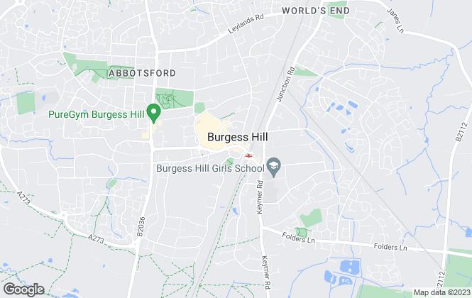Map for Arington, Burgess Hill