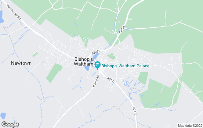 Map for Pearsons, Bishops Waltham