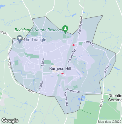 Map of property in Burgess Hill