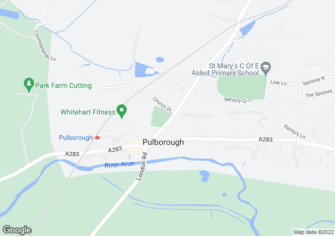 Map for Church Hill, Pulborough, RH20