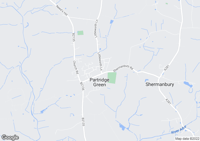 Map for Littleworth Lane, Partridge Green, HORSHAM