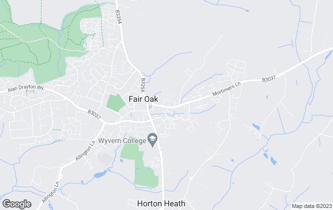Map for GSL Homestyle Properties, Fair Oak