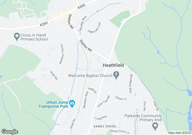 Map for Harley Lane, Heathfield