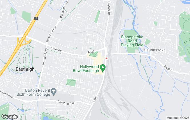 Map for Austin & Wyatt Lettings, Eastleigh