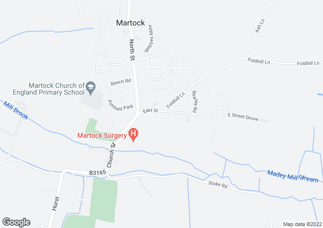 Map for Foldhill Villas, East Street, Martock, Somerset