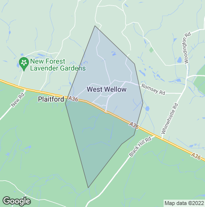 Map of property in West Wellow