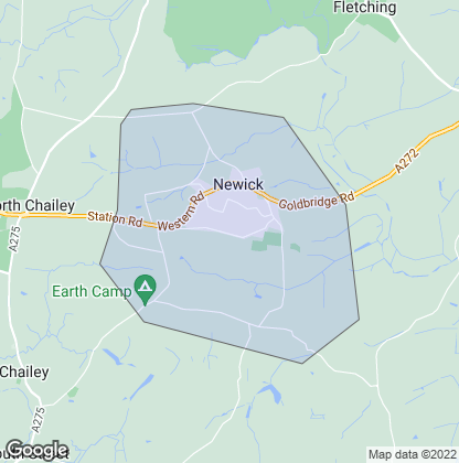 Map of property in Newick