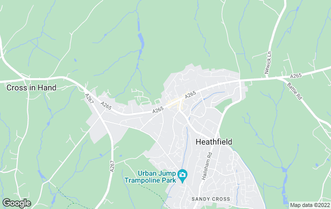 Map for Rowland Gorringe, Heathfield