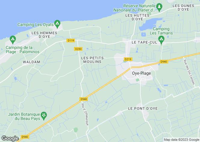 Map for Oye-Plage, Pas-de-Calais, Nord-Pas-de-Calais