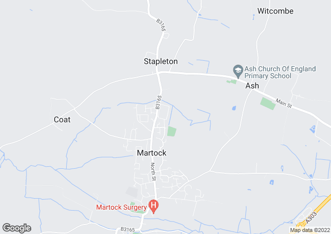 Map for Stapleton Close, Martock