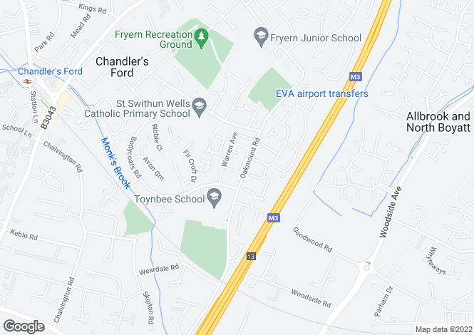 Map for Seymour Close , Chandlers Ford ,
