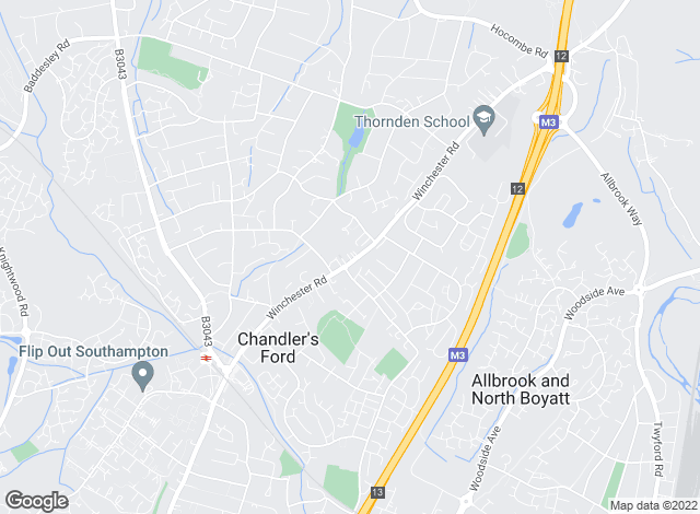 Map for Goadsby, Chandlers Ford