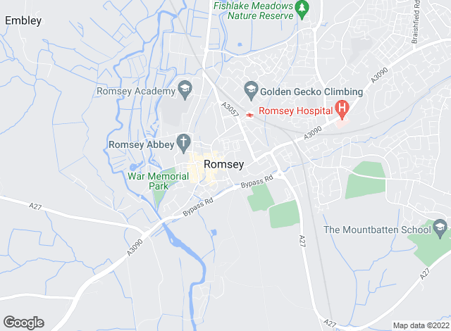 Map for Pearsons, Romsey