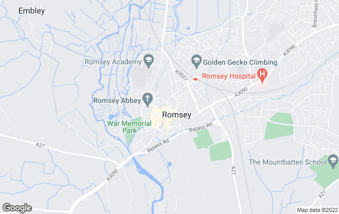 Map for Hamilton Parker Buckingham, Romsey – Commercial