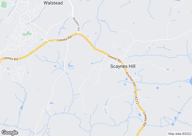 Map for Ham Lane, Scaynes Hill