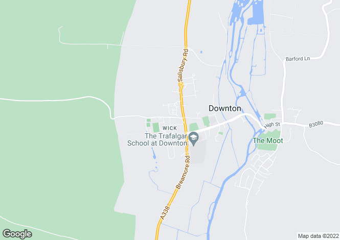 Map for Wick Lane, Downton, Salisbury