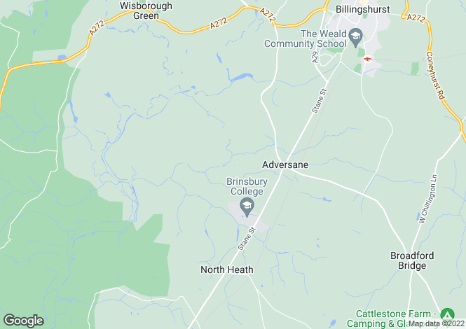 Map for Adversane, Billingshurst