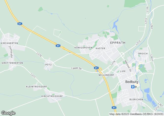 Map for Brucknerstr. 5, Bedburg, Rhein-Erft-Kreis, Germany
