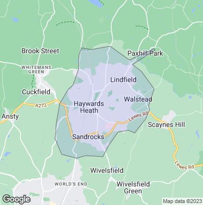 Map of property in Haywards Heath