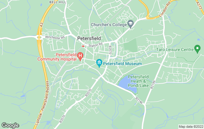 Map for Premier Lettings, Petersfield