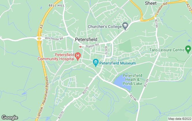 Map for Cubitt & West, Petersfield