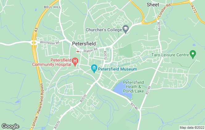 Map for Homes Estate Agents, Petersfield