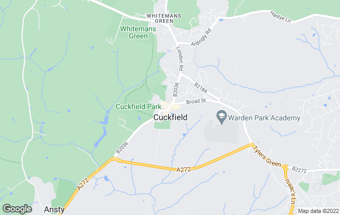 Map for Mansell McTaggart, Cuckfield