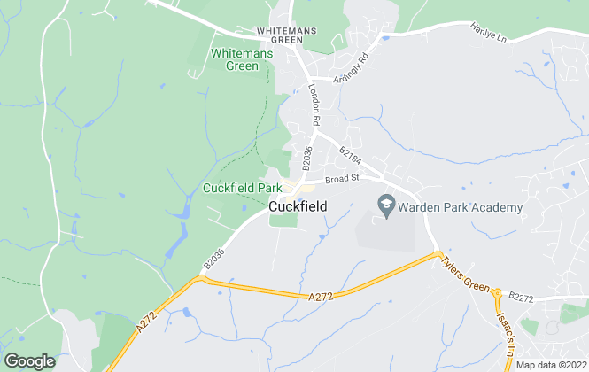 Map for Marcus Grimes, Cuckfield