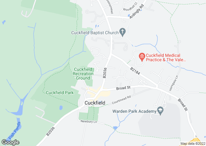 Map for High Street, Cuckfield, Haywards Heath, West Sussex
