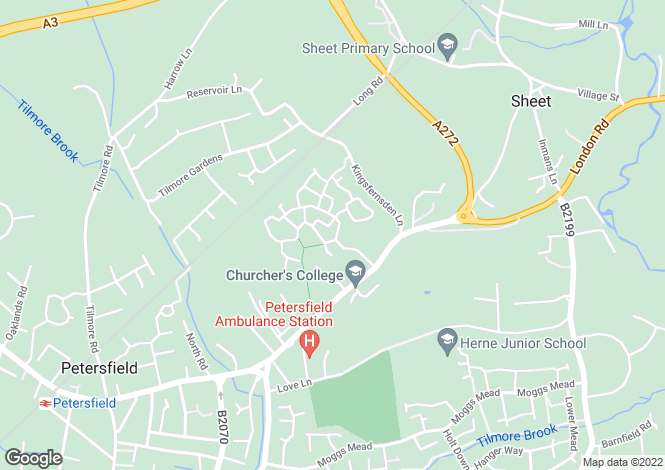 Map for Barentin Way, Petersfield