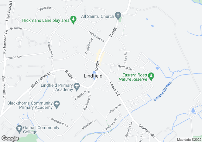 Map for Lewes Road, Lindfield, RH16