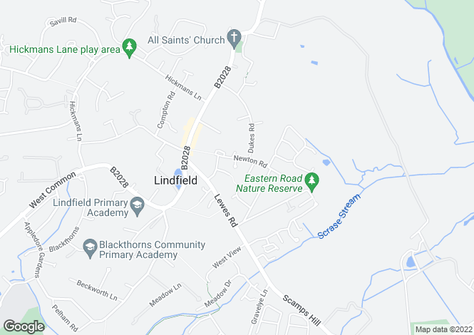 Map for ASH at The Limes, Newton Road,
