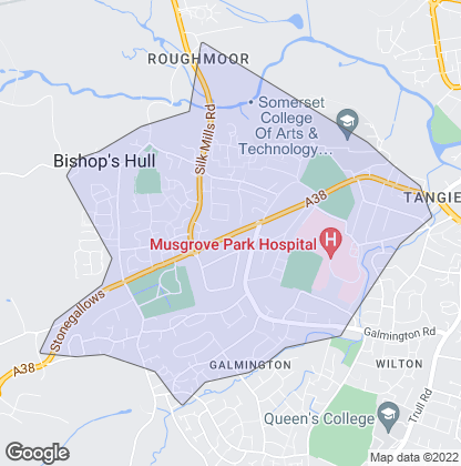 Map of property in Taunton Deane