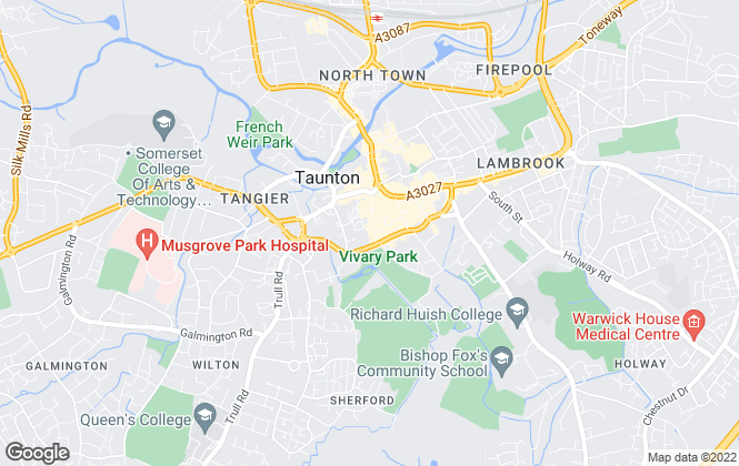 Map for Fine & Country, Taunton