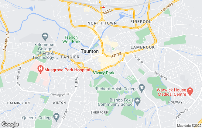 Map for Gibbins Richards, Taunton
