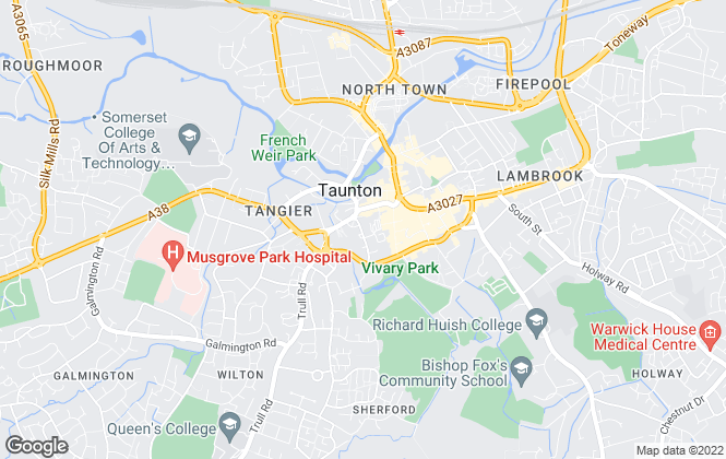Map for Somerset West Letting Agency, Taunton