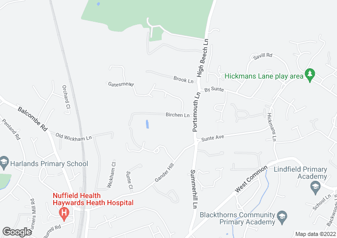 Map for Birchen Lane, Lindfield, Nr. Haywards Heath, West Sussex RH16 1RY