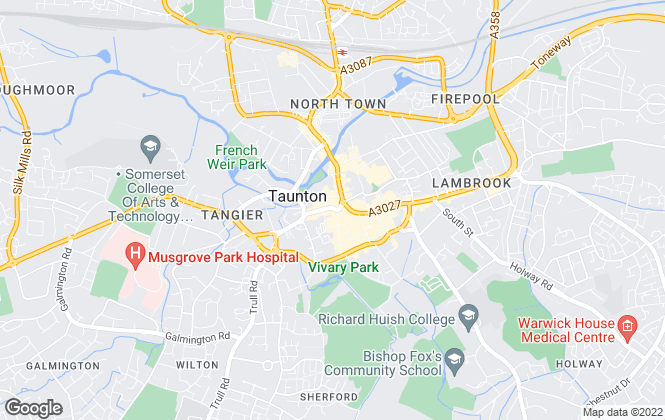 Map for Wilkie May & Tuckwood, Taunton
