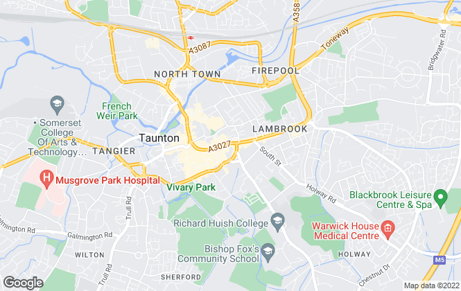 Map for Fox & Sons - Lettings, Taunton Lettings