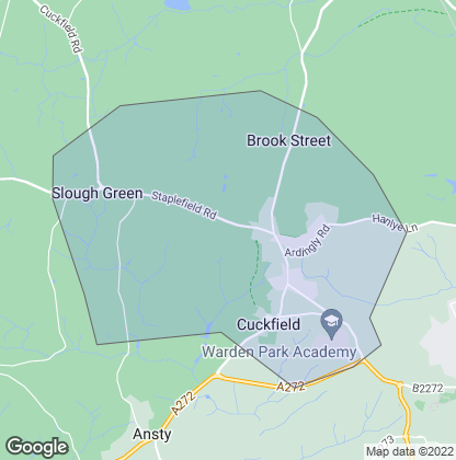 Map of property in Cuckfield