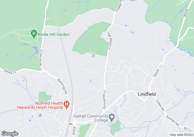 Map for Brook Lane, Lindfield, RH16