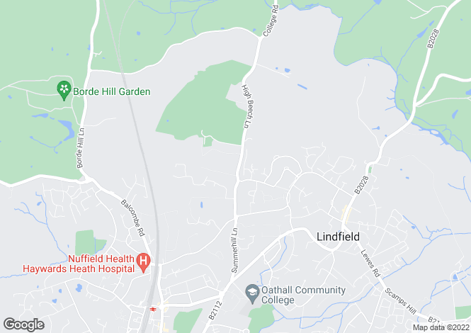 Map for High Beech Lane, Lindfield, West Sussex RH16 1SQ