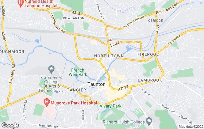 Map for McKinlays Estate Agents, Taunton - Lettings