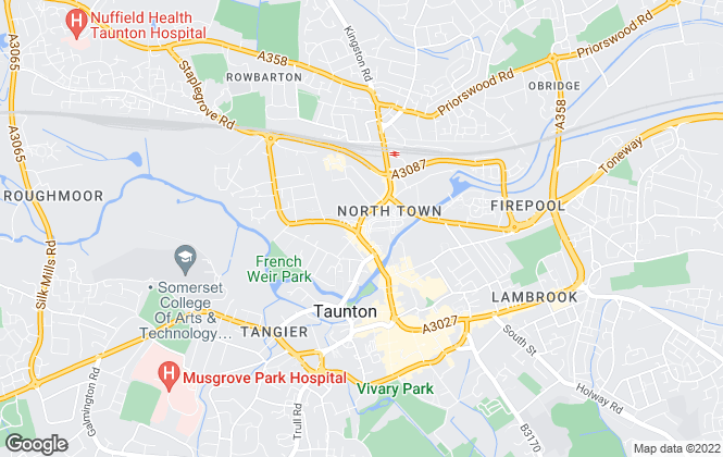 Map for TRG Lawrence & Son, Taunton