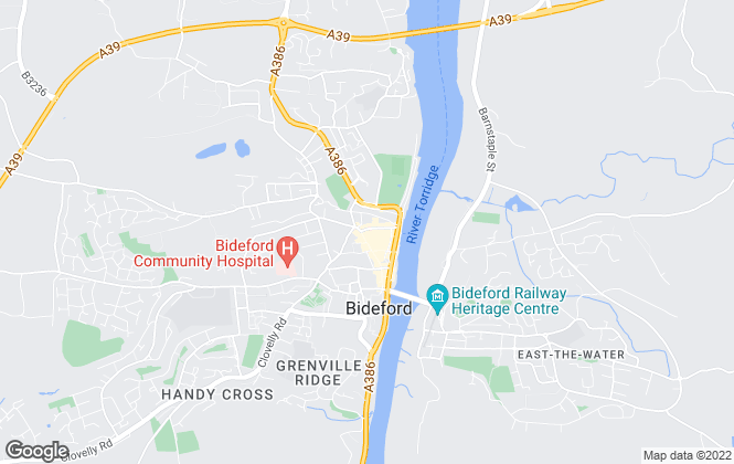 Map for Brights, Bideford