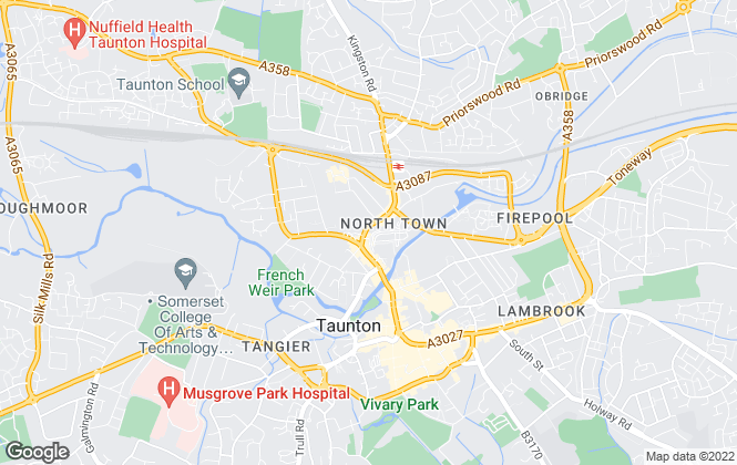 Map for Bennett Residential , Taunton