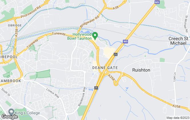 Map for Greenslade Taylor Hunt, Taunton Land