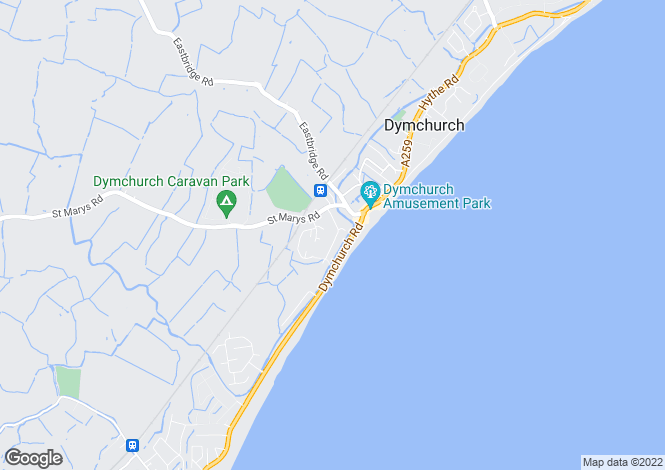 Map for Seabourne Way, Dymchurch, Romney Marsh TN29