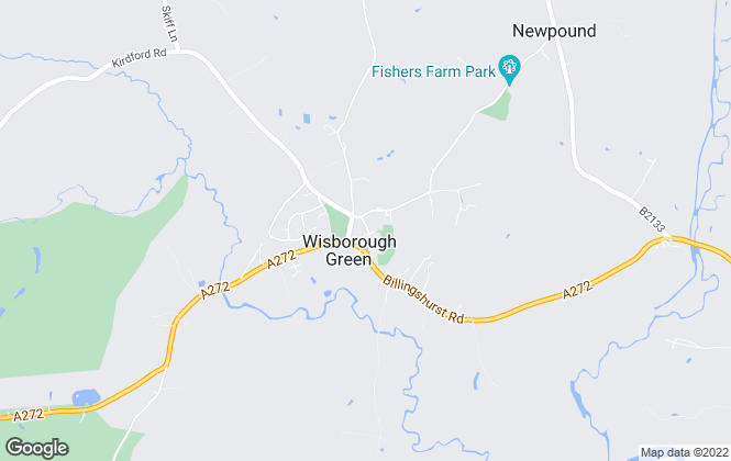 Map for Penfolds, Wisborough Green