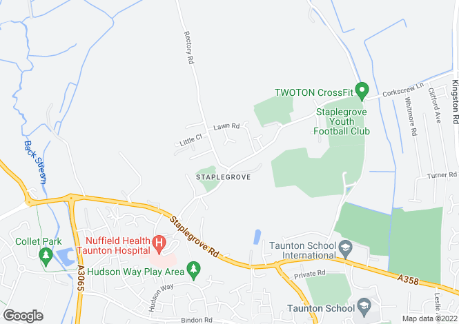 Map for Staplegrove, Taunton, Somerset
